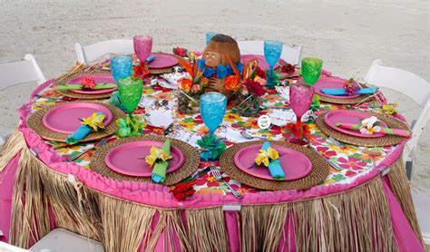 Create this beautiful pink paradise luau themed rehearsal