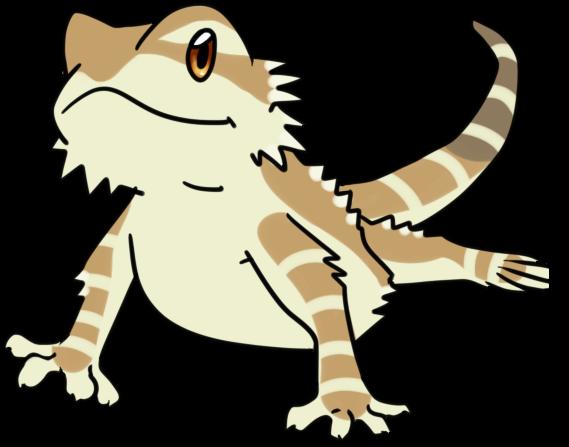 Komodo Dragon Simple Drawing