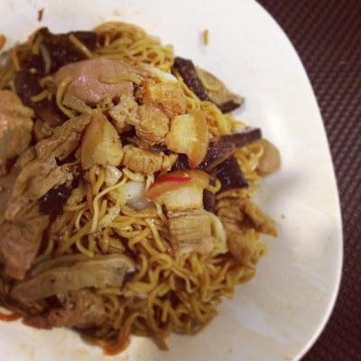 Loney braised noodles for dinner. :/  (Taken with Instagram)