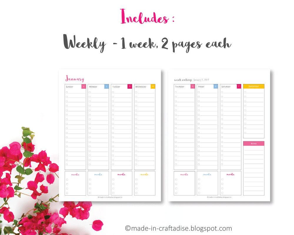 Daily Planner 2017 PDF Everyday Planner Calendar 2017