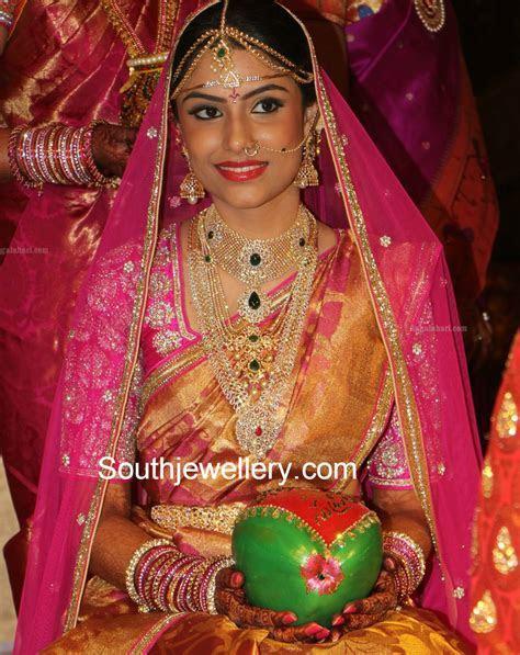 Bride in Stunning Diamond Jewelry   Jewellery Designs