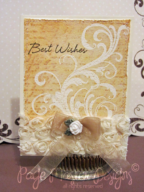 Wedding wishes bow