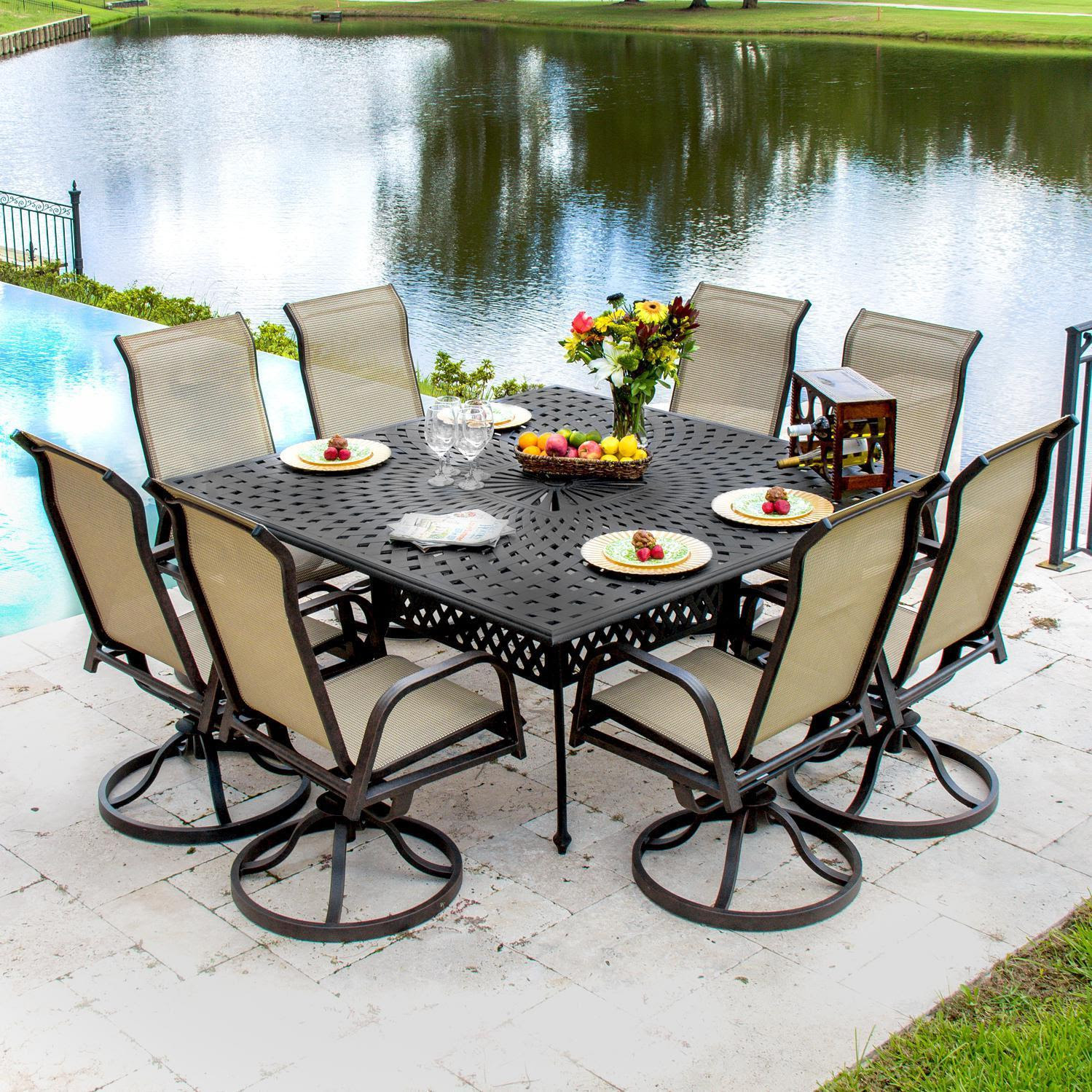Patio dining sets for 8 people | Hawk Haven