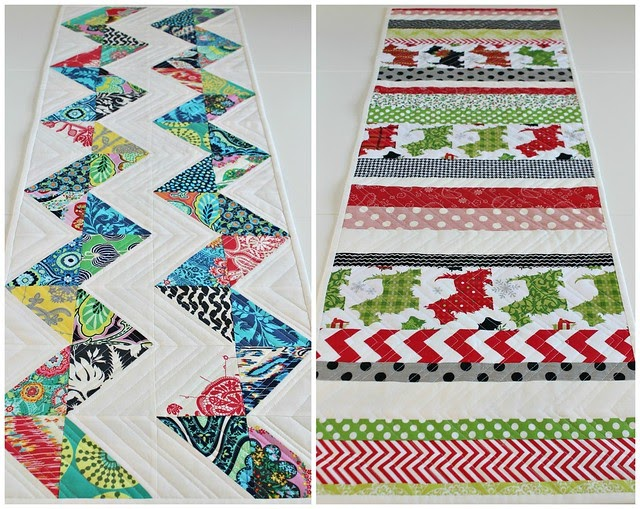 Saltwater quilts reversible table runner for Cie no 85 table 4