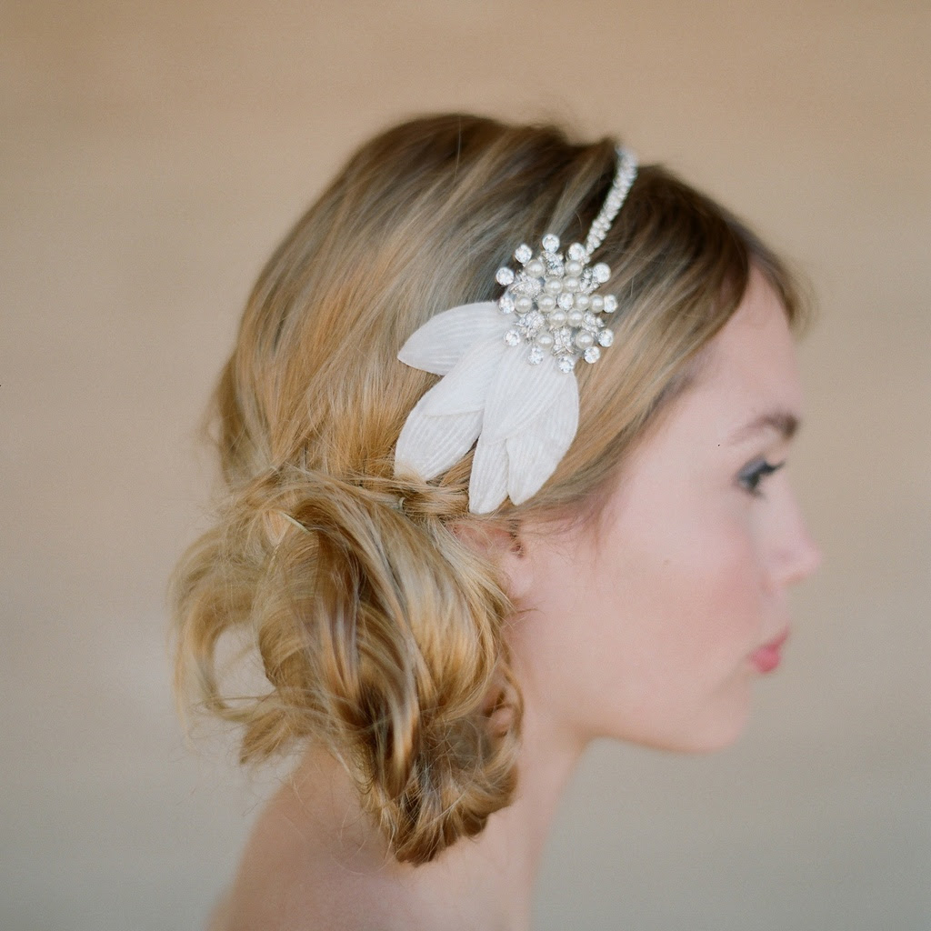 Image result for headband bride short hairstyle""