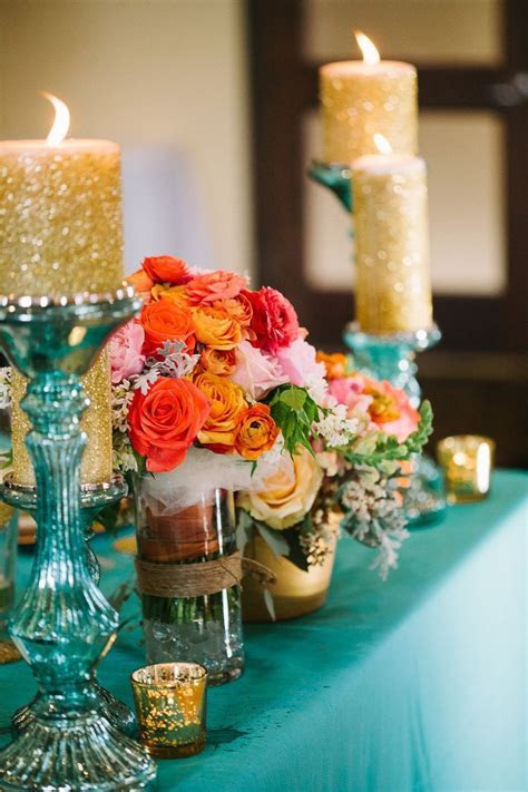 17 best images about Teal, pink and gold wedding on