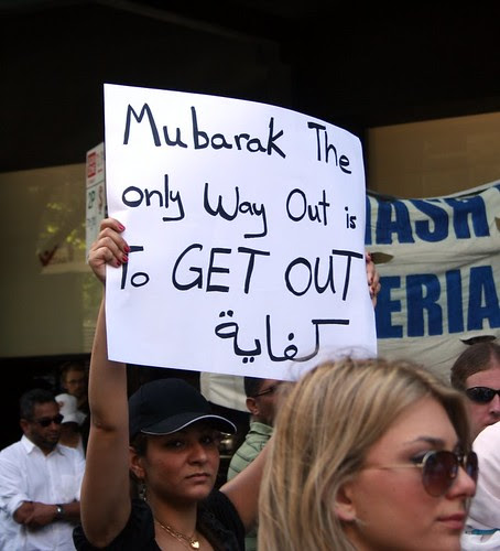 Mubarak The only way out is to get out - Melbourne protest