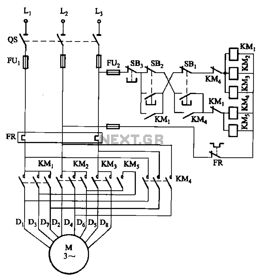 2 Y Connected Two Speed Motor Contactor Control Circuit Under Motor Control Circuits 59963 Next Gr