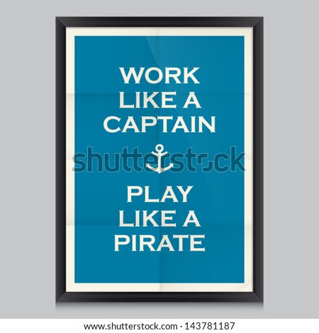 Work Quote Poster Effects Poster Frame Stock Vector 143781184 ...
