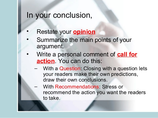 how to write a conclusion in an essay online