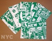 5 Pack New York City Silk Screened Post Cards - Etsy