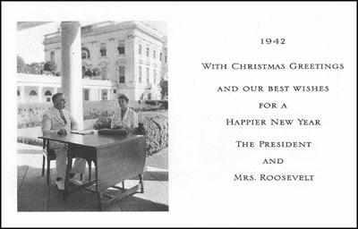 Roosevelt Christmas greetings card