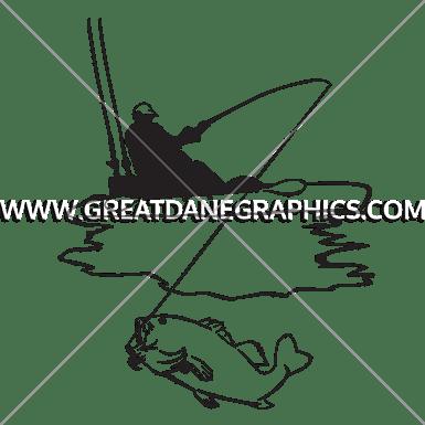 Download Kayak Fishing   Production Ready Artwork for T-Shirt Printing