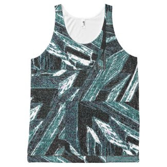 Supercool Modern Unisex Tank Top for Summer Days All-Over Print Tank Top