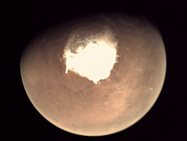 An image of the Red Planet that was taken by Europe's Mars Express spacecraft on October 16, 2016.