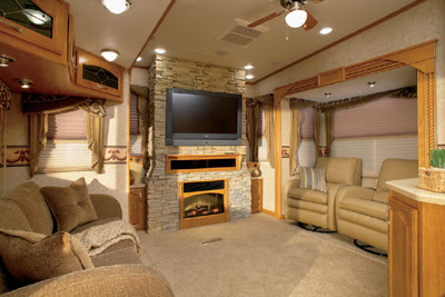 Crossroads Rv S Seville Features A Real Slate Fireplace