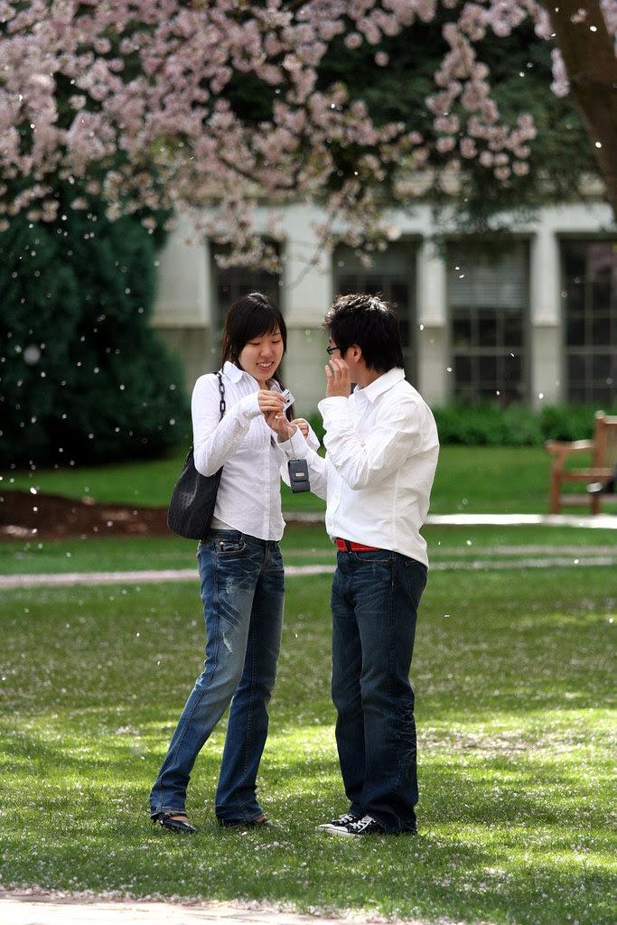 Students in Rain of Petals