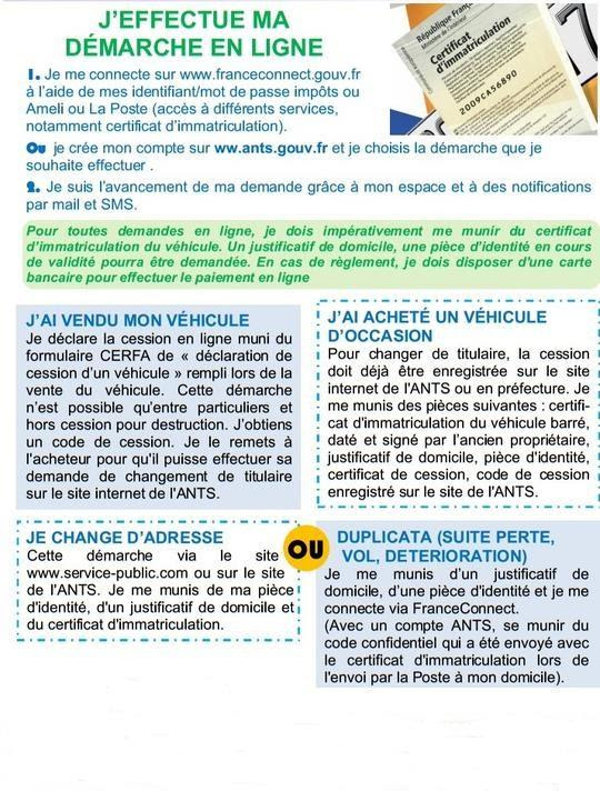 Immatriculations Démarches Administratives Accueil Les