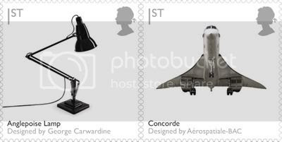 Angelpoise Lamp & Concorde: Design Stamps by Royal Mail