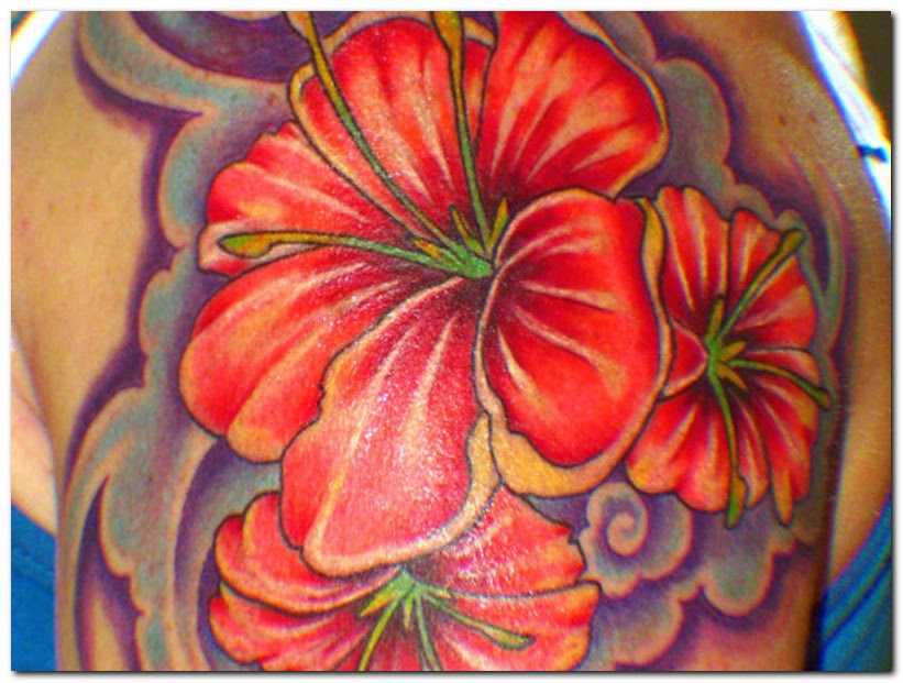 Hawaiian Hibiscus Flower Tattoos Tattoos Designs Ideas