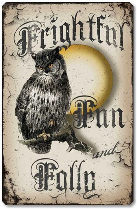 Frightful Fun & Folly Owl Halloween Wall Plaque   Fairy