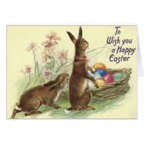 Vintage Easter Rabbits Cards