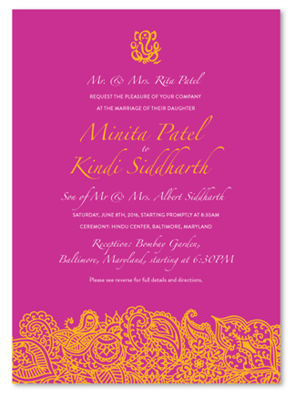 Bombay Wedding Invitations