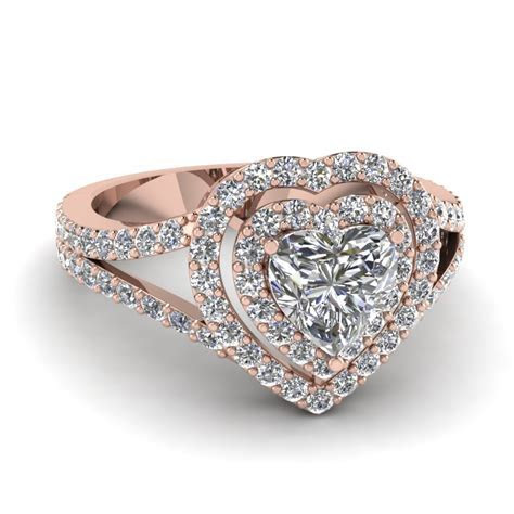 Purchase Our 14k Rose Gold Double Halo Rings At An