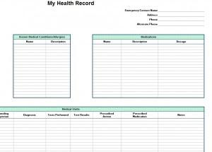 Personal Health Record Template | Personal Health Record