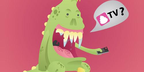 happy monster illustration