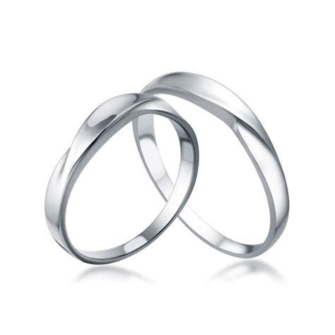 White Gold His and Her matching Wedding Rings for Couples
