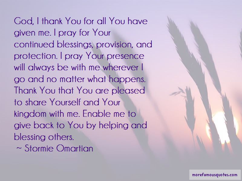 Thank You God For My Blessings Quotes Top 7 Quotes About Thank You