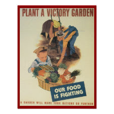 Plant A Victory Gardent WPA Poster print