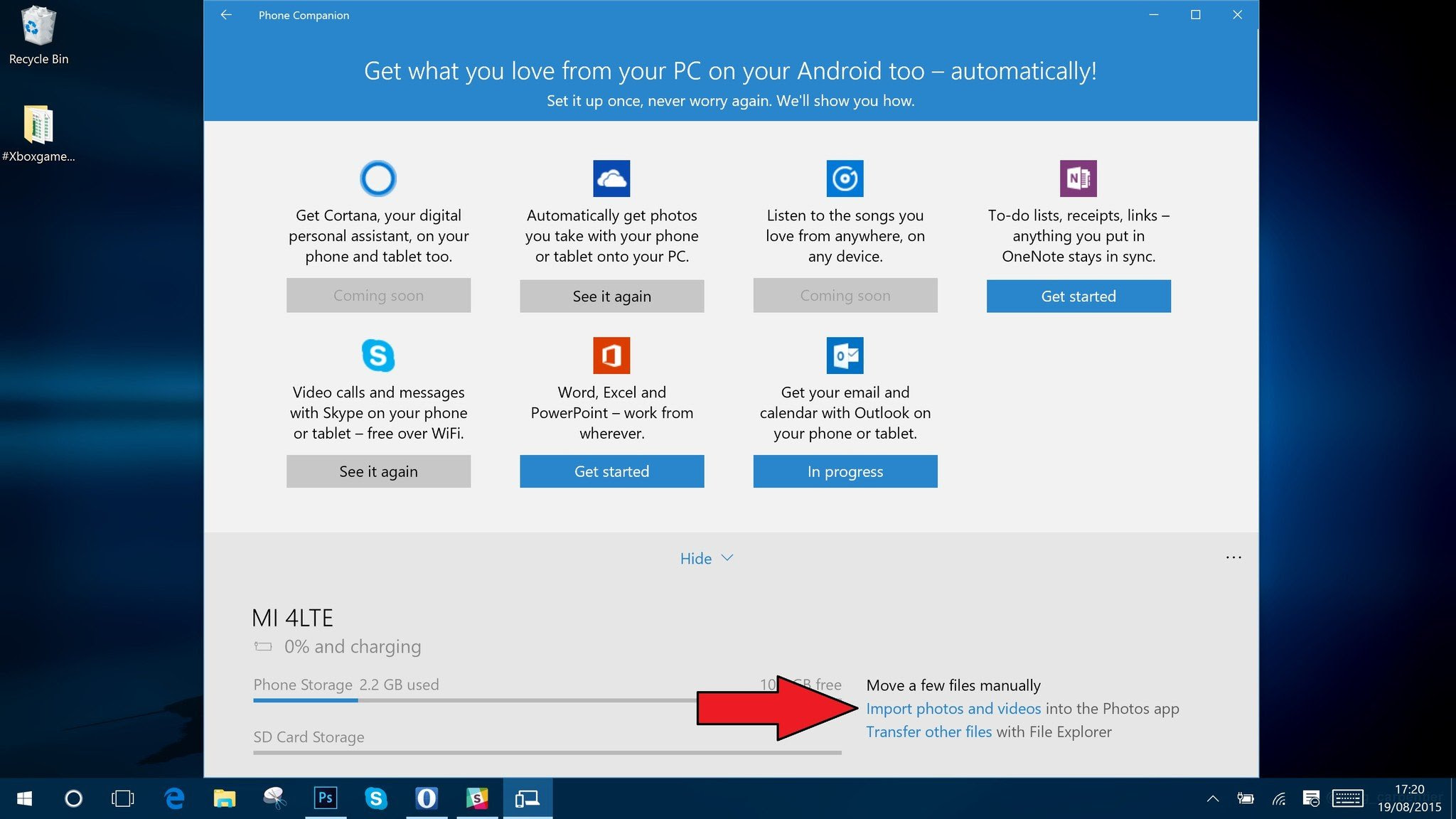 Windows 10 phones at t 2015 - Plug Your Android Phone In To Your Windows 10 Machine Using The Regular Microusb Cable If The Phone Companion App Doesn T Launch Go Into The Start Menu