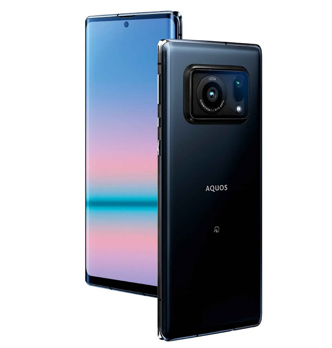 The largest photographic sensor on mobile is on the Sharp Aquos R6