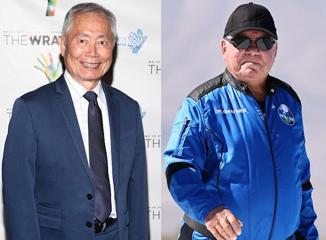 George Takei disses William Shatner's trip to space: 'He's boldly going where other people have gone before'