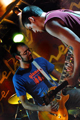 Ángel y Paco disfrutando del concierto