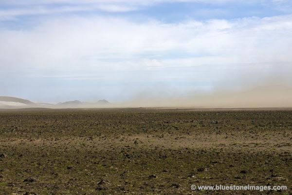 01M-0414 Temp Dust Storms Crossing the Myrdalssandur Desert