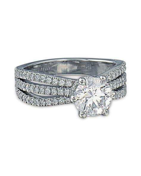 Three Row Diamond Engagement Ring   Turgeon Raine