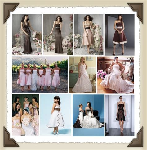 Chocolate & Pink Wedding Dresses   Here Comes The Blog