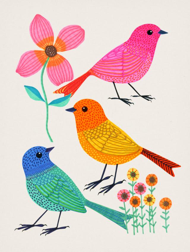 Sharpie Birds