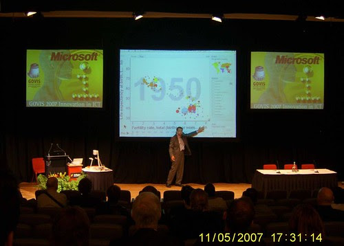 Professor Hans Rosling at GOVIS 2007 conference