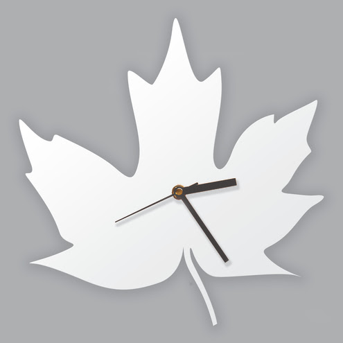 Maple Leaf Clock by Ode