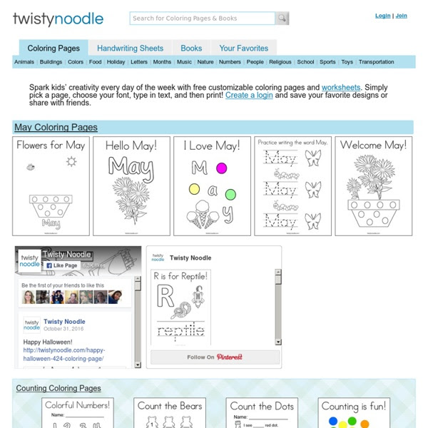 Coloring Pages - Twisty Noodle | Pearltrees