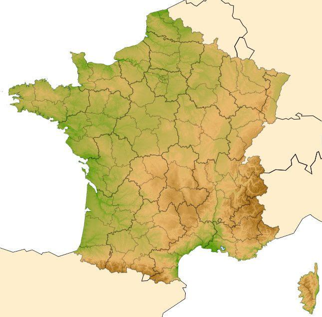 Cartes De France Régions Villes Fleuves Massifs