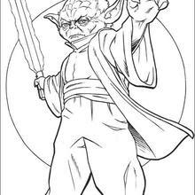 Coloriages Coloriage Star Wars De Maître Yoda Frhellokidscom