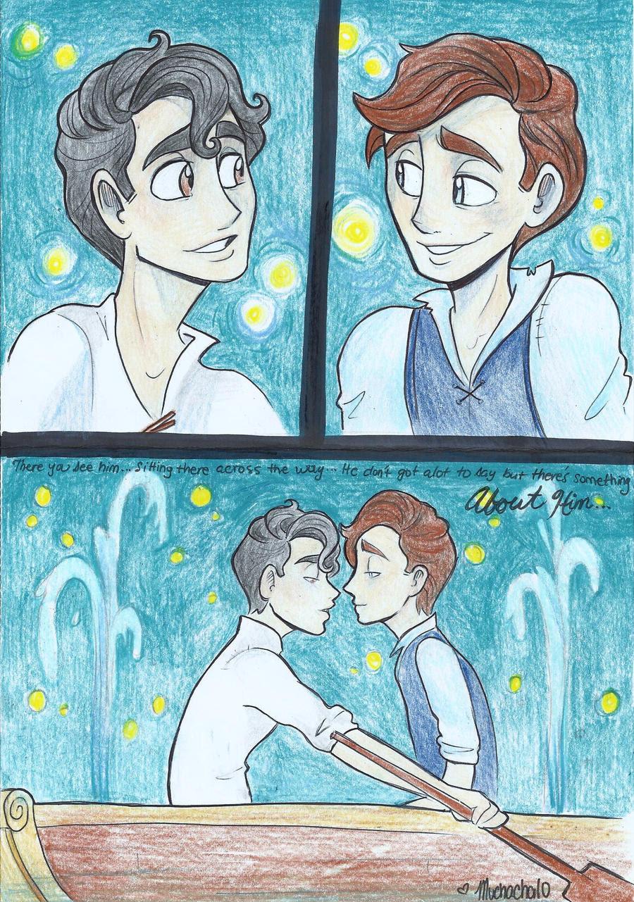 Resultado de imagen de two boy kissing fan art