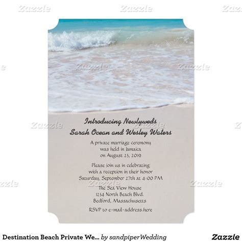 Writing in the Sand Wedding Announcement   Zazzle.com in