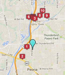 map peoria az hotels