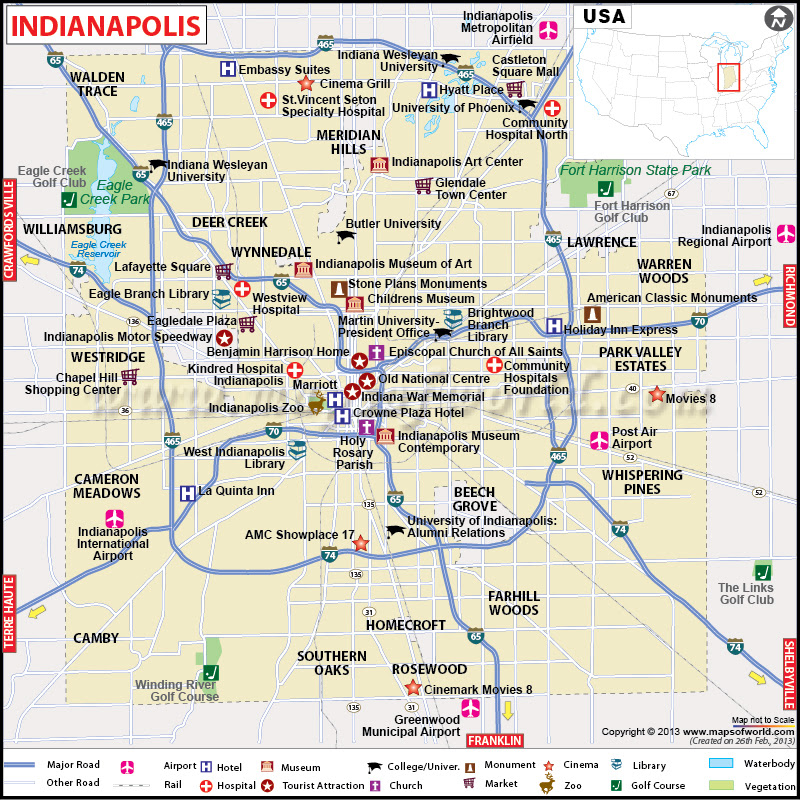 Major Cities Near Indianapolis Indiana